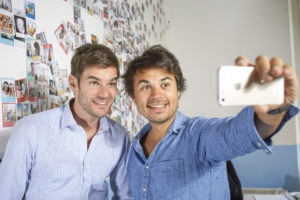 Aurélien de Meaux with his associate Antoine Le Conte; they founded Cheerz together.